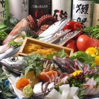 毎日市場から仕入れる鮮度抜群の魚が自慢☆