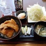 政家 - カツ丼ランチセット1131円
