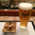 鮨いち - 生ビールとお通し