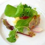 Restaurant au Sauvage - 鶏肉のテリーヌ。