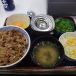 吉野家 - 牛ねぎ玉丼(並盛)など