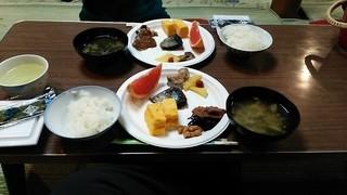 根石岳山荘 - 朝食