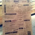 RHC CAFE - メニュー