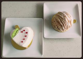 アンファミーユ - レアチーズケーキ、モンブラン