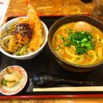 47434210 - 豚カレーうどん ミニ天丼
