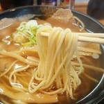 中華そば おのむら - ストレート麺