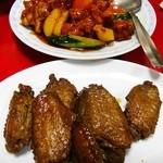 ピカイチ - 酢豚+手羽先