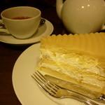 ハーブス - マロンケーキと紅茶