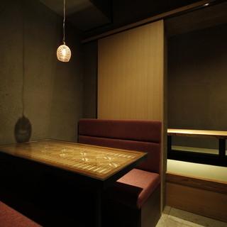 会食などの接待にぜひ小上がりの座敷、ソファなど使い勝手も多彩