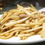 菜香 - マコモ笋と肉の細切りの炒め