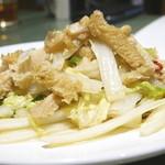 菜香 - 白菜と牛モツ(ハチノス)の炒め