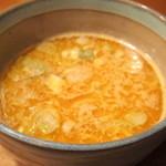 麺処 三鈷峰 - 2016年2月 味玉海老つけ麺のスープ