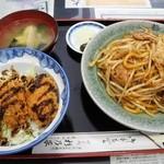 47442711 - カキフライ丼+浪江焼そば定食¥1,200