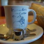 コメダ珈琲店 - 2016.02 歴史を感じさせるコーヒーカップ(ちょいハゲ:笑)