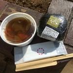 農家キッチン - 料理写真:ばくだんおにぎり、けんちん汁付(500円税込)