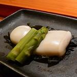 鮨 とびこめ - ふぐの白子昆布〆焼き