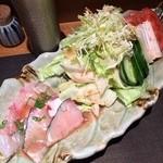 47450696 - 地魚と春野菜の梅しそサラダ