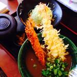 みくりやうどん - 海老天と海老フライのカレー定食