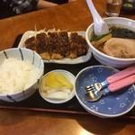 福味 - 料理写真:ミニカツ ミニラーメン (750円+TAX)