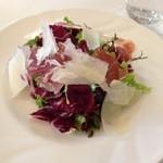 47455145 - 生ハムとパルミジャーノと有機野菜のフラットリア風サラダ