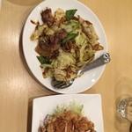 金虎苑 - 回鍋肉 油淋鶏 全部半額300円台  やす!ありがとう