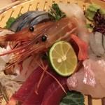 浜焼き鯖と挽きぐるみ蕎麦 きばり - 刺し盛り