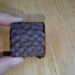 ロイズ さっぽろ東急店 - ロイズ  チョコレートウエハース(ヘーゼルクリーム12個入)1個アップ【2016年2月撮影】