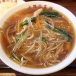 大阪王将 - 料理写真:(ランチ)週替りランチ¥930 ※肉もやしあんかけラーメン