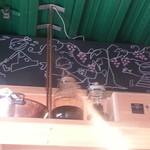 47459526 - シェフの友人の画家による可愛い壁画