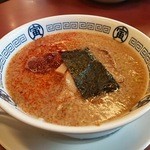 中華そば寅 - 2016/2/13 寅そば味噌+4辛 横顔
