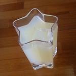 宮沢賢治記念館 喫茶コーナー - ドリンク写真:花巻リンゴジュース(星形グラス)
