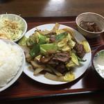 白龍 - 料理写真:焼肉定食=800円