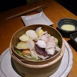 47464369 - 三田ポークと旬の野菜のセイロ蒸し