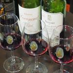 葡萄酒蔵 - ドリンク写真:ワイン3飲み比べ