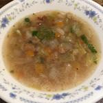 Tokachi - 2016/02 ランチのスープ