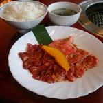焼肉 八山 - ご飯とスープ