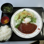 カロヴァーレ - <2016年1月>ハンバーグ定食800円(税込)