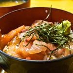 柳橋食堂 - 山笠セットの海鮮丼