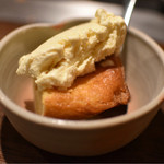 鉄板酒場 壱○弐 - クリームケーキとバニラアイス