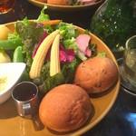 青山フラワーマーケット ティーハウス - バーニャカウダの温野菜サラダランチ