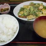 島人 - 料理写真:ゴーヤチャンプル定食