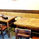 丸福 - 内観;テーブル席・