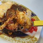 まん福からあげ志みず - フワフワ玉子にケッチャップライスとデミグラスソースが絶妙に絡んで味も申し分ありませんでした。