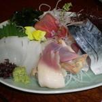 大黒寿司 - お造り 金華さば、大とろ、いか、ほっき
