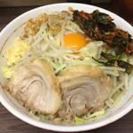 ラーメン二郎 - 汁なし 野菜ニンニクニラキムチ