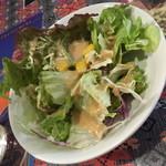 マザーインディア - ランチのスペシャルカレーセット(990円)の『サラダ』2016年2月