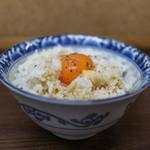 親孝行 - 鶏バターの卵かけご飯☆