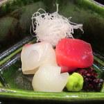 京ごちそう いしまる - 造り 旬魚三種