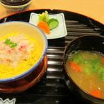 京ごちそう いしまる - 蟹の蒸し寿司・鱈じゃっぱ汁・自家製糠漬け