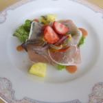 パティオ - ミュージアクランチ:生ハムとフルーツサラダ